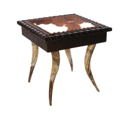 Horn Collection End Table (Square)