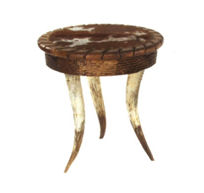 Horn Collection Round Side Table
