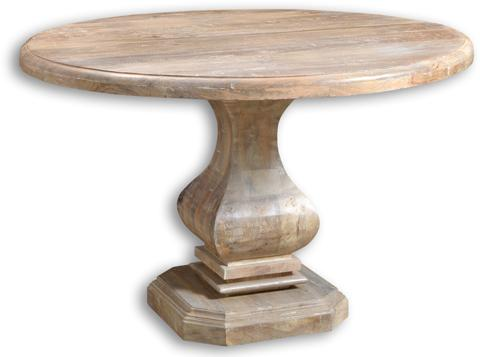 Brisbane Collection Pedestal Round Dining Table