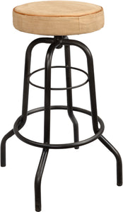 Jasper Iron Barstool with Canvas Seat