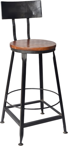 Jasper Iron Back Barstool