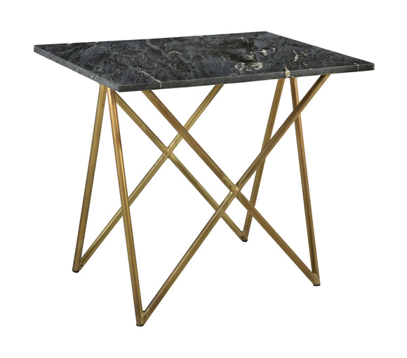 Denali Black Marble End Table