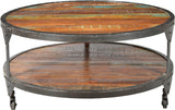 Cornwall Iron Frame Round Coffee Table