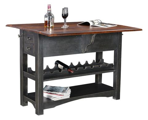 Esme Pub Table with Wine Rack