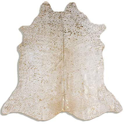 Metallic Acid Wash Cowhide Rug