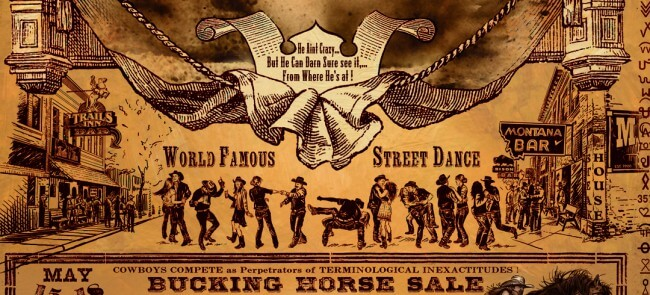 Official 2014 Miles City Bucking Horse Sale Rodeo Poster Print w/Wooden Frame & Glass