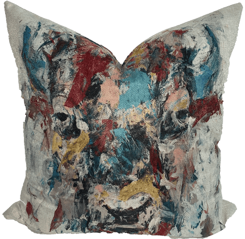 Abstract Bison Pillow