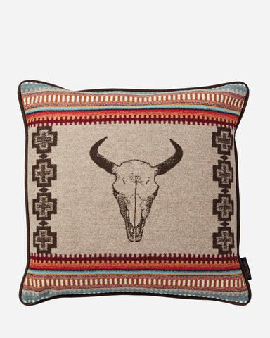 American West Tan Throw Pillow