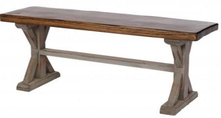 Alder Bench with K Pattern Base