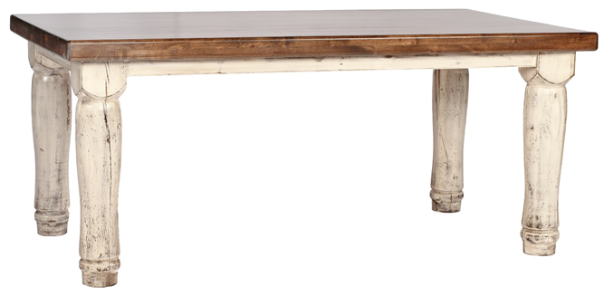 Alder Dining Table with Turned Leg (Standard)