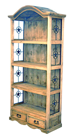 Bookcase with Metal Star