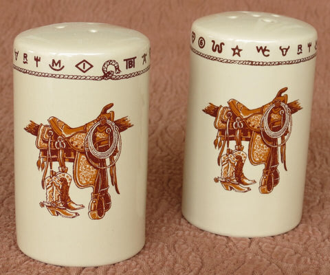 Boots and Saddle Salt & Pepper Set