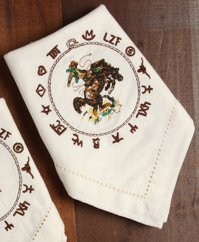 Bronco Napkins Set