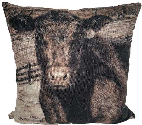 Brown Cow Pillow