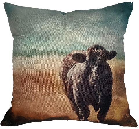Brown Cow II Pillow