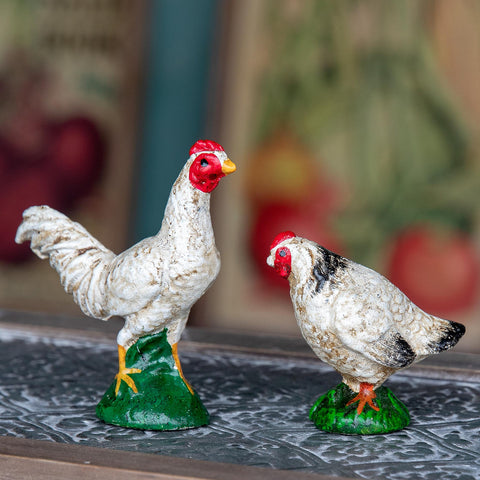 Cast Iron Rooster & Hen