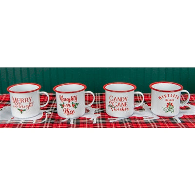 Christmas Mugs With Assorted Sayings