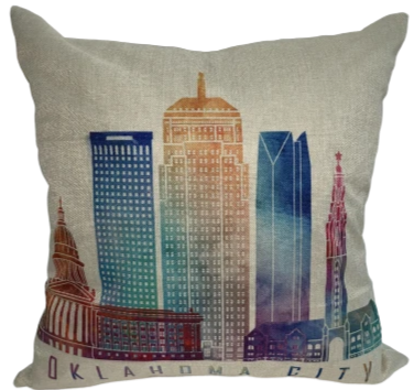 Oklahoma City Skyline Pillow