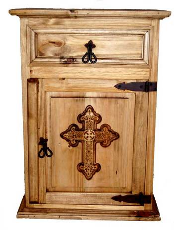 Mansion Collection Nightstand with Cross