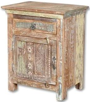 Eartha Collection Carved Nightstand