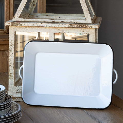 Farmhouse Enamel Rectangle Tray