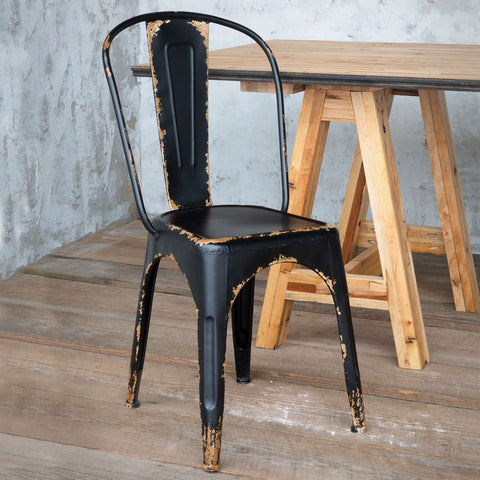 Antique Distressed Bistro Chair