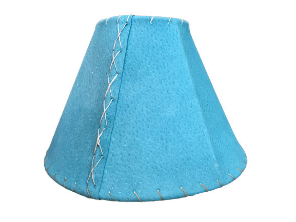 Native Turquoise Pigskin Lampshade