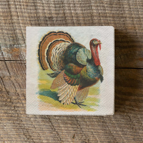 Vintage Turkey Paper Beverage Napkins