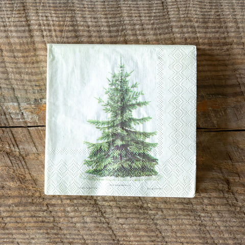 Fir Tree Paper Beverage Napkins