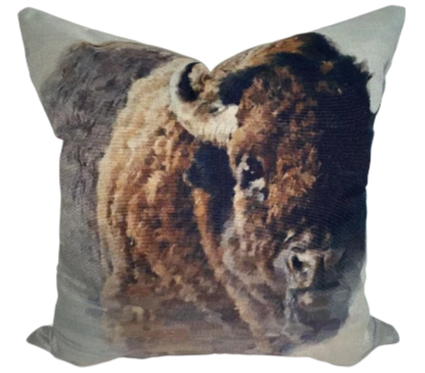 Fluffy Bison Pillow
