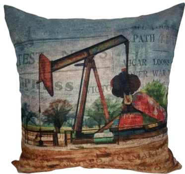 Oil Rig Pillow