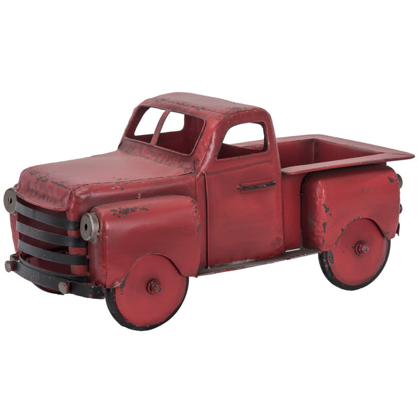 Metal Antique Red Truck