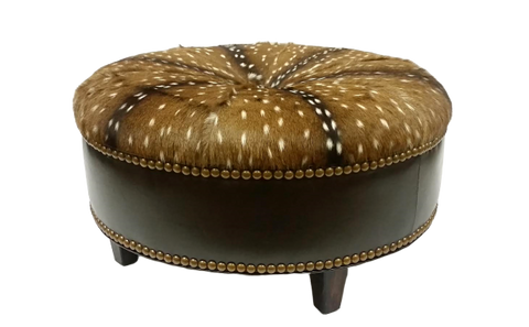 High Country Collection Round Ottoman