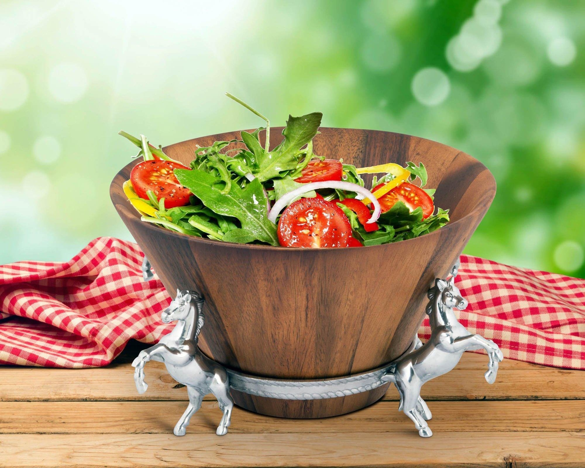 Horse Wood Salad Bowl