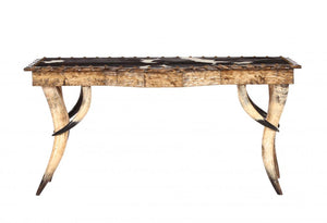 Horn Collection Bow Front Sofa Table