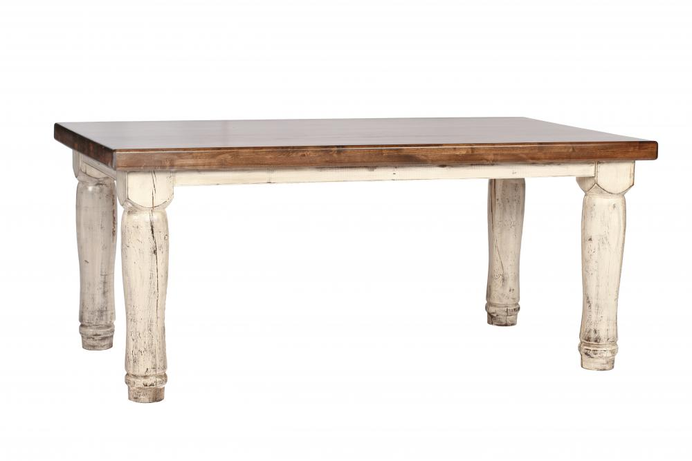 Alder Dining Table with Turned Leg (Large)