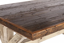 Load image into Gallery viewer, Reclaimed Cargo Flooring Dining Table with K Pattern Base (Standard)
