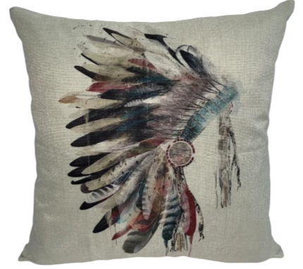 Watercolor Headdress Pillow