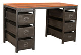 Jasper Six Drawer Desk