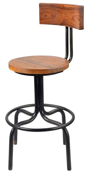 Jasper Wood Back Swivel Counter Stool
