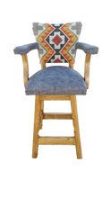 Load image into Gallery viewer, Stone Blaze Kilim Swivel Barstool
