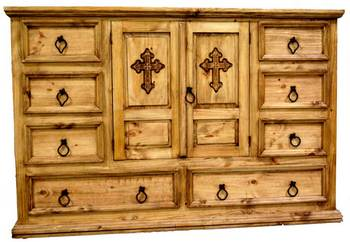 Mansion Collection Dresser with Cross
