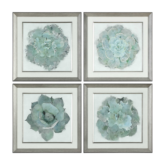 Watercolor Succulent Framed Print