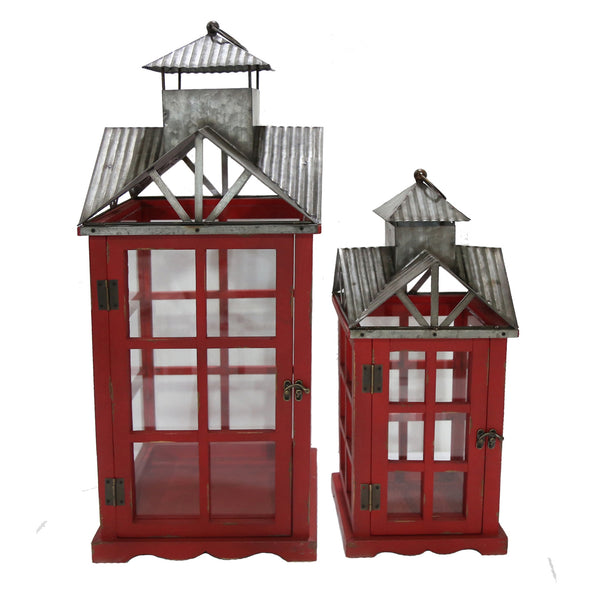 Barn Door Red Lantern