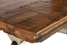 Load image into Gallery viewer, Reclaimed Railroad Floor Table with All Thread (Standard)