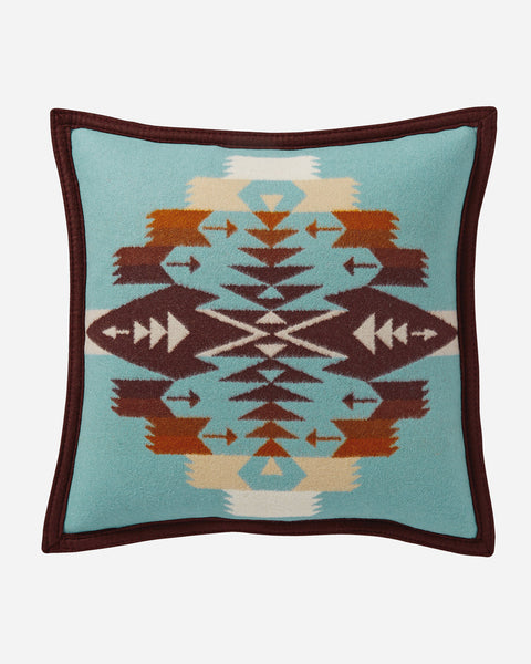 Tucson Aqua Throw Pillow