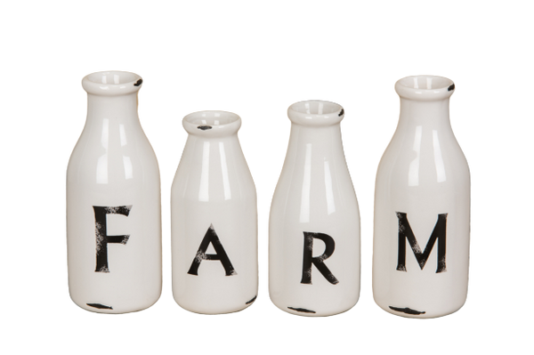 Farm Milk Bottle Set