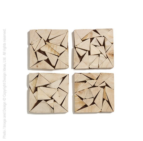 Wedge Coasters - Set of 4