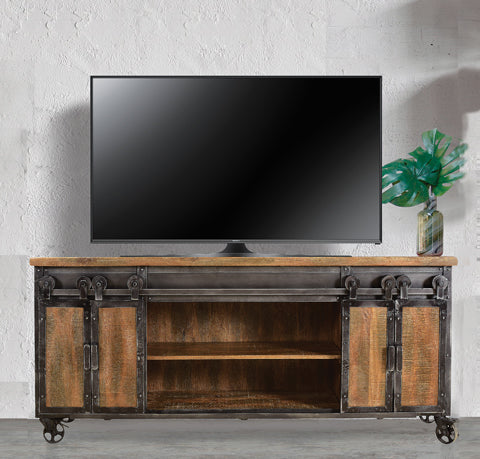 Weler Sliding Door Entertainment Console