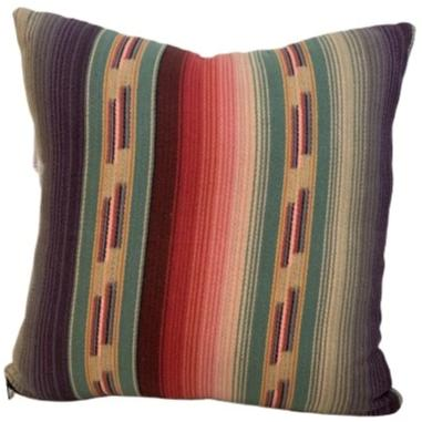 Arizona Sunset Serape Pillow